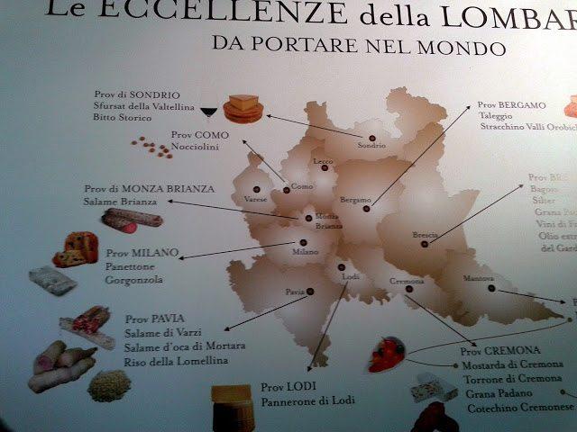 La mappa delle eccellenze gastronomiche a Eataly Smeraldo. E quelle di Varese dove sono? credits photo: ribellidelbitto.blogspot.it