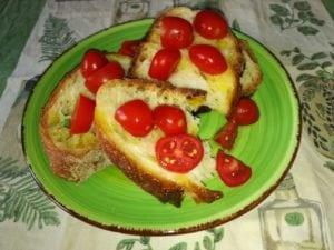 pane olio e pomodoro