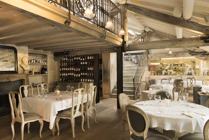 Detail of the diningroom at Restaurant MimmoMilano