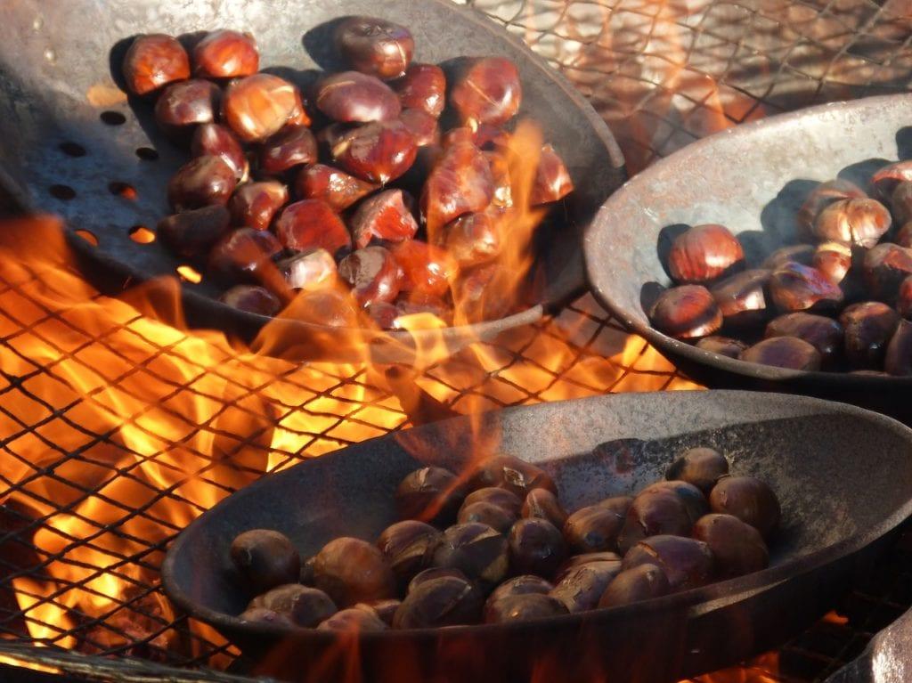 castagne sul fuoco