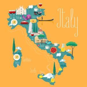 prodotti tipici italiani mappa