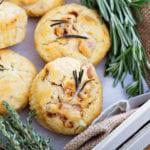 muffin salati con prosciutto