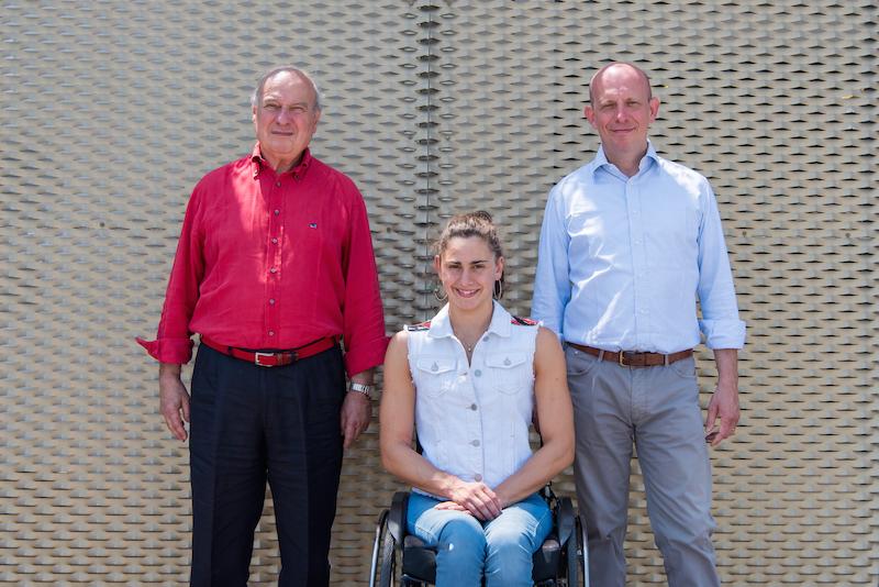 Da sinistra: Filippo Amoretti, Giulia Ghiretti ed Egidio Amoretti
