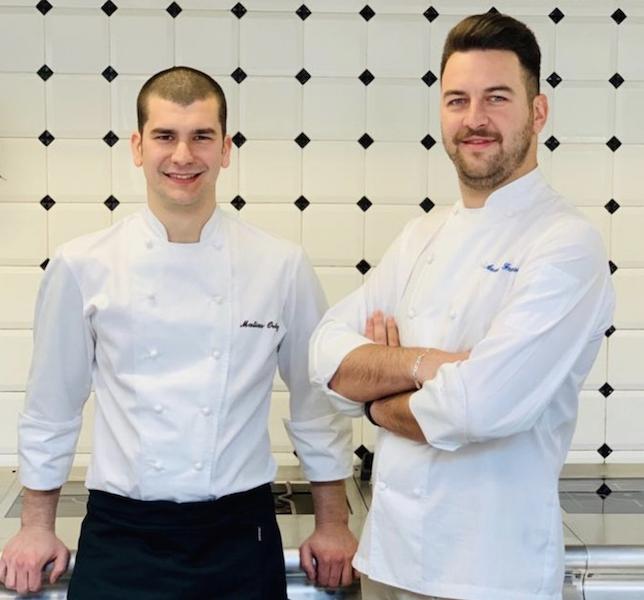 Gli chef Matias Ortiz (a sinistra) e Anatolij Franzese (a destra)
