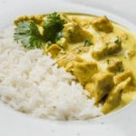 pollo al curry con riso