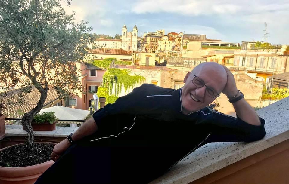 Roma Il Grande Chef Umberto Vezzoli Sulla Terrazza Trinità