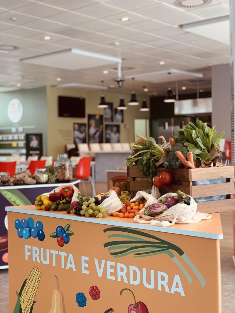 Le isole tematiche durante la settimana della dieta mediterranea