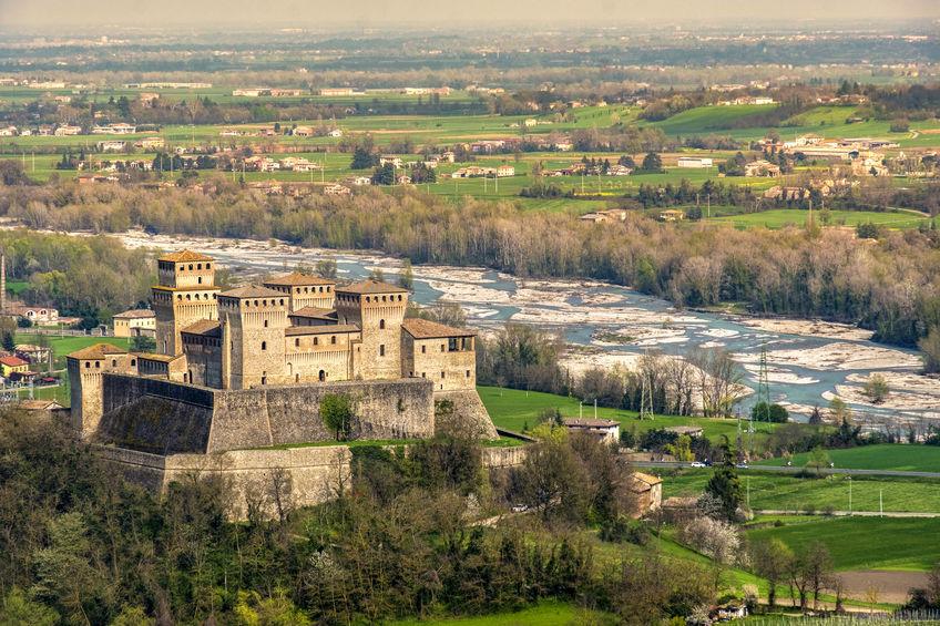 Il panorama dal Castello di Torrechiara è tra i più belli di Parma. Parola di Giulia Ghiretti
