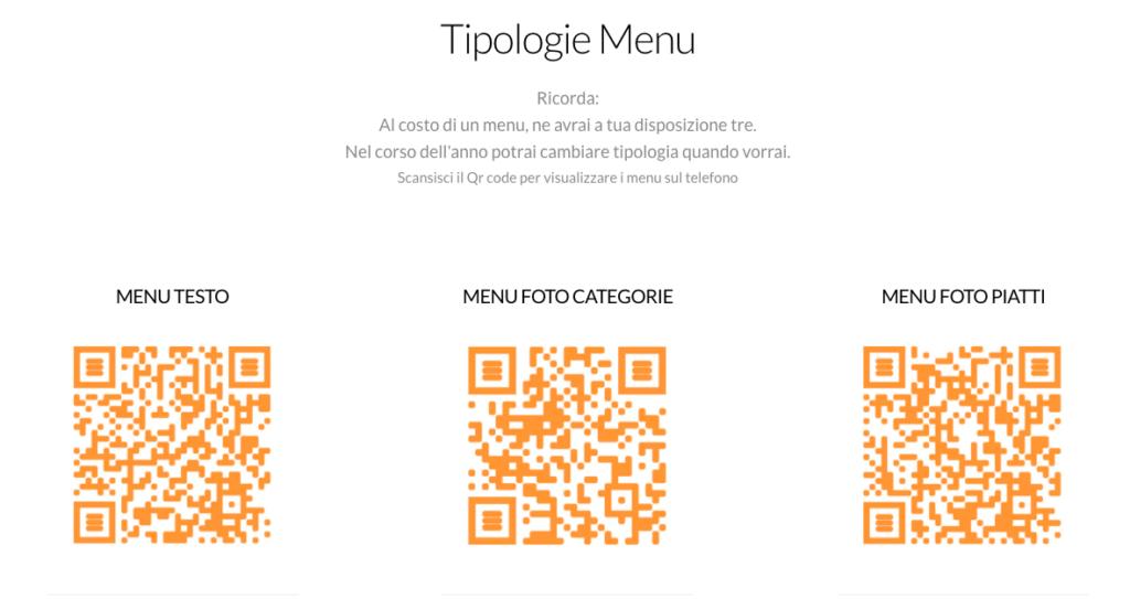Safe table menu qr code