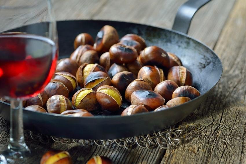 prodotti di stagione autunno castagne