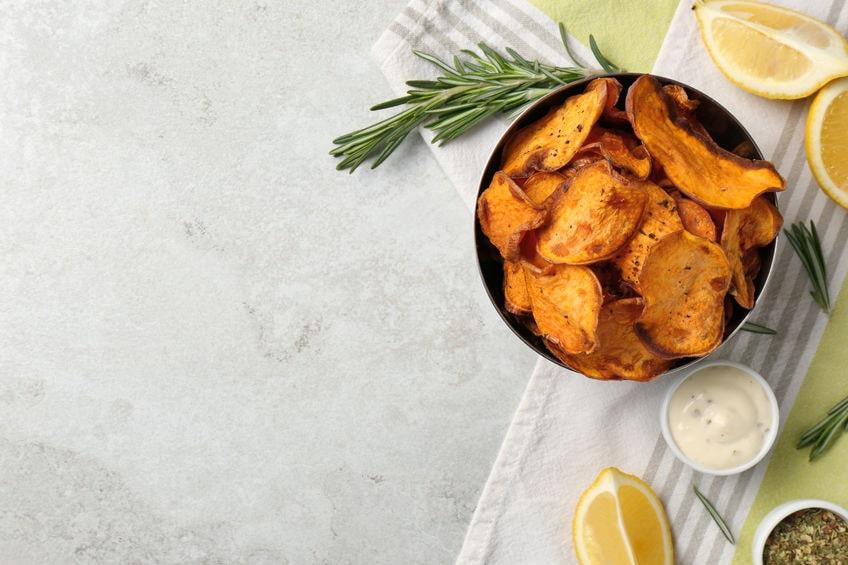 menu autunnale chips di zucca