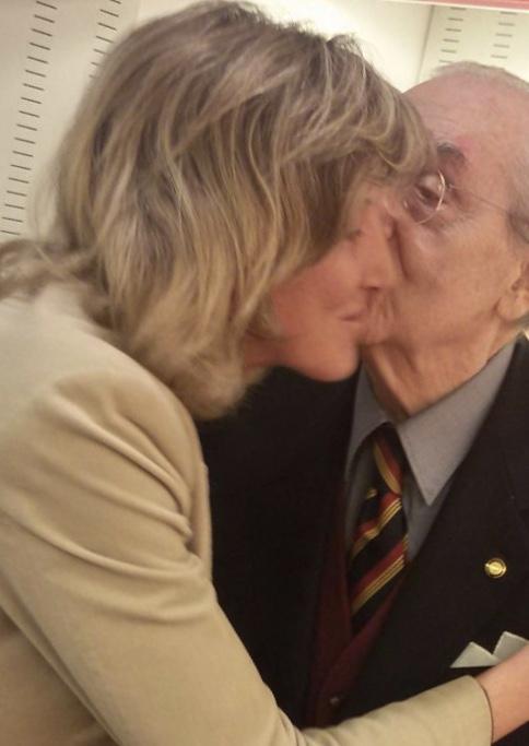 Nadia Toppino con Gualtiero Marchesi