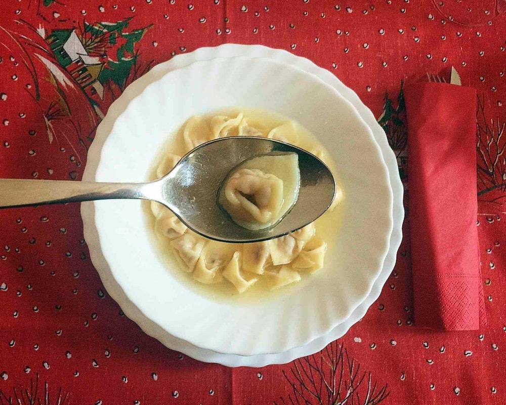 Menu di Natale - cappelletti in brodo - P Giorgia Barchi