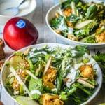 insalata con mele e pollo