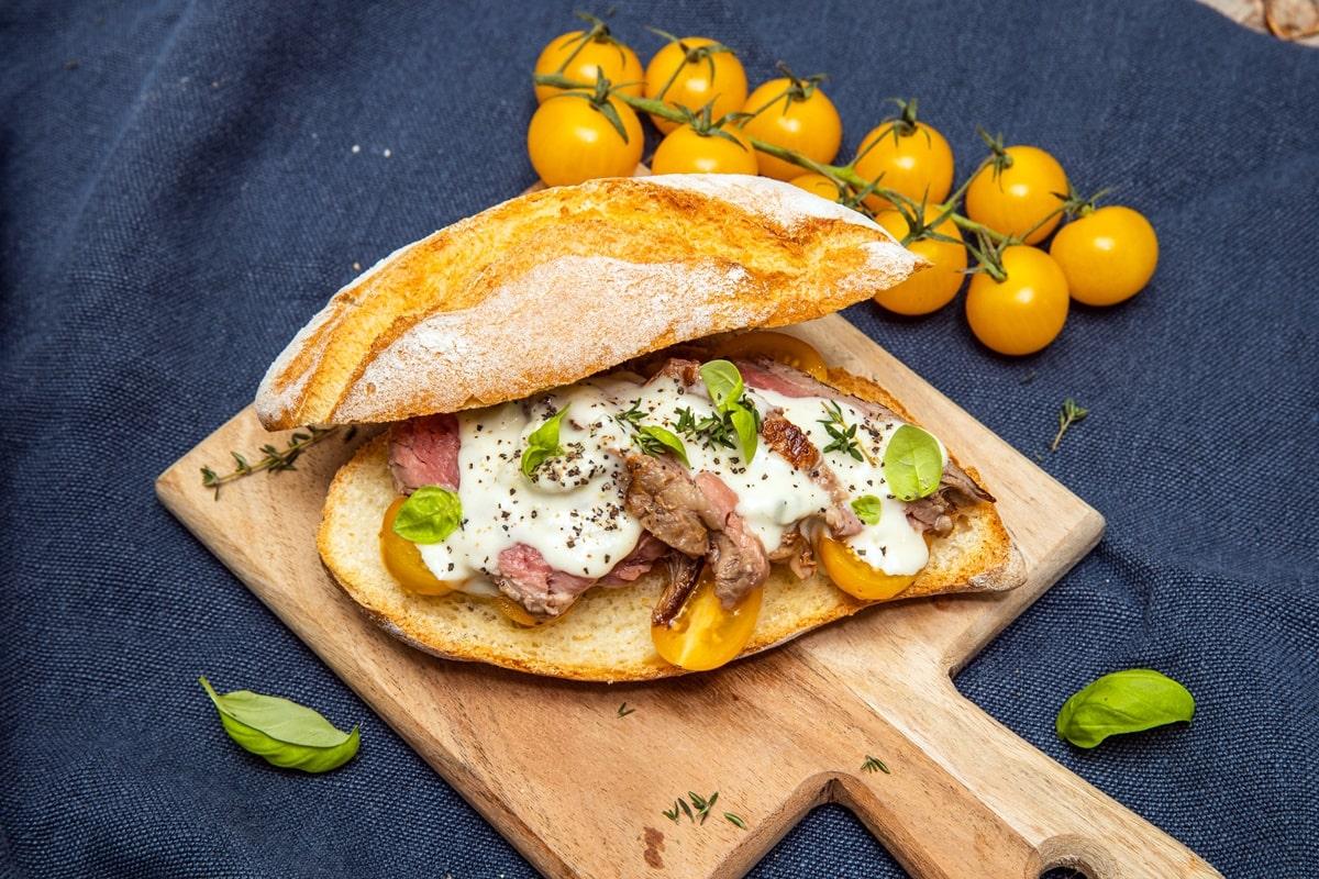 Ricette con gorgonzola panino manzo