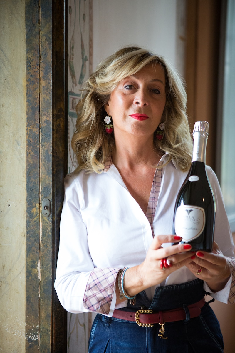 Roberta Bianchi, proprietaria della storica cantina Villa di Franciacorta